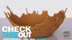 A sand bowl made from sand and glue