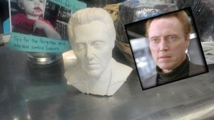 Christopher Walken Soap Sculpture Left as Tip -- Amazing likeness!